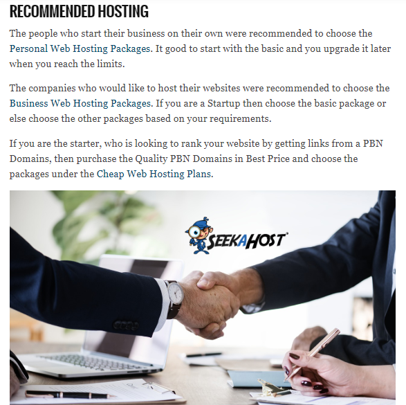 recommended web hosting